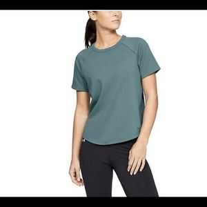 🆕Under Armour French Terry Cutout Top/Sz:L/NWT